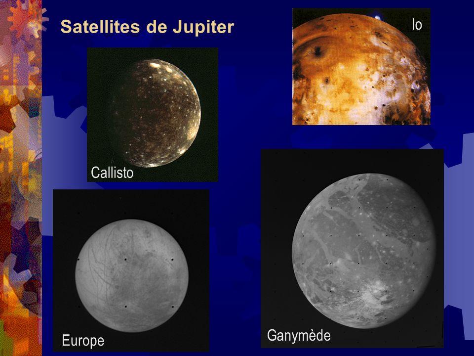 Satellites de Jupiter Io Callisto Ganymède Europe