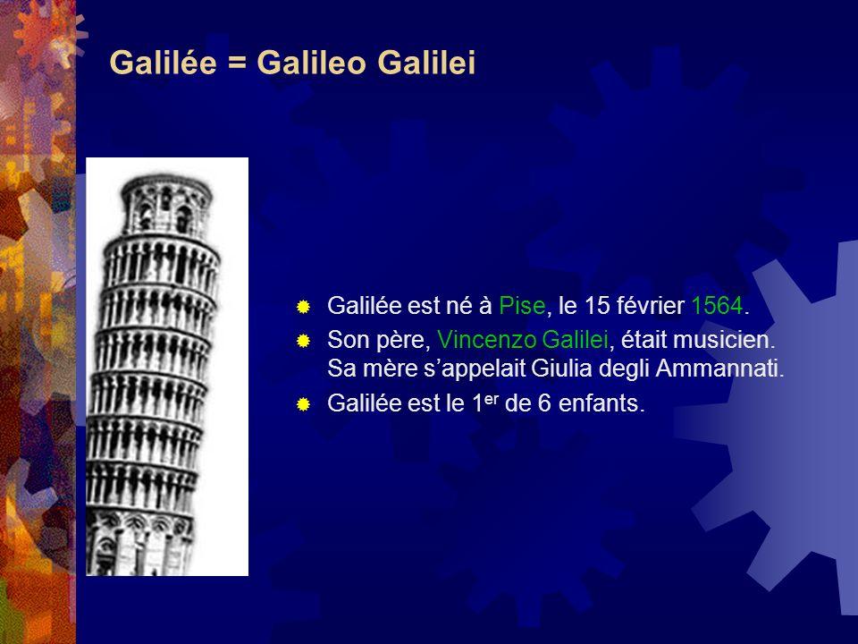 Galilée = Galileo Galilei