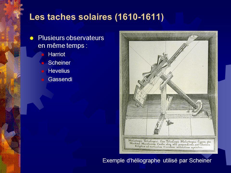 Les taches solaires (1610-1611)