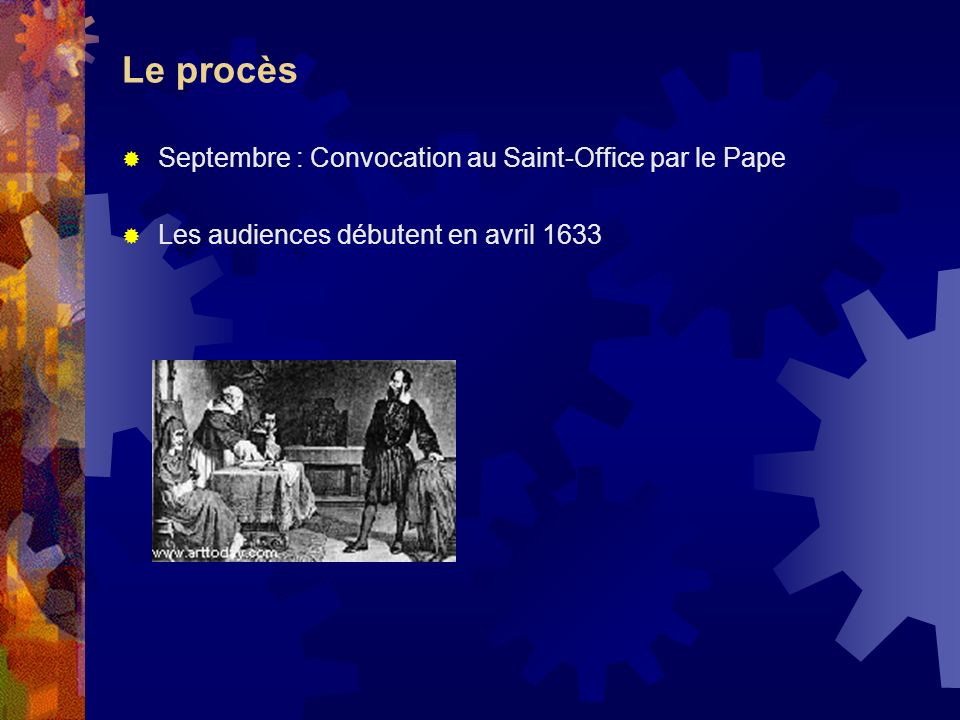 Le procès Septembre : Convocation au Saint-Office par le Pape