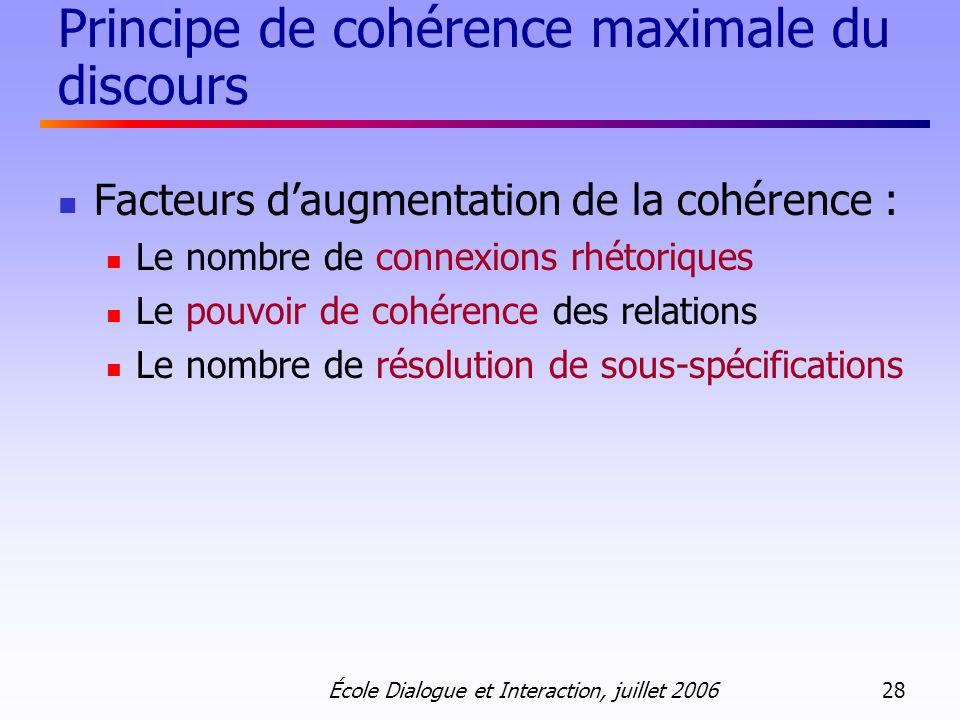 Principe de cohérence maximale du discours