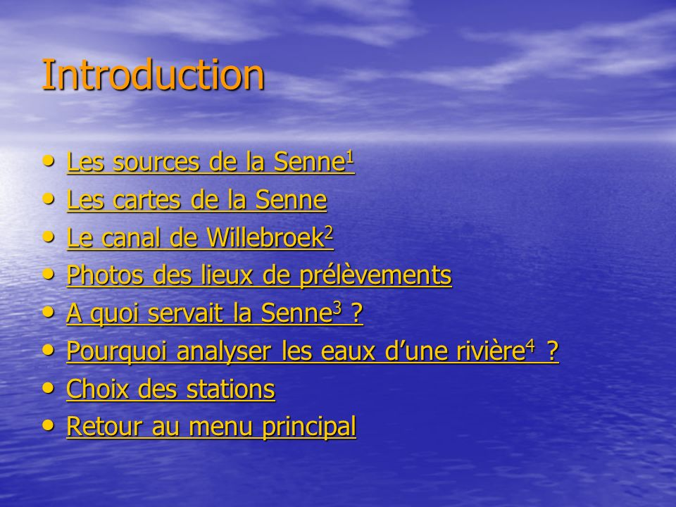 Introduction Les sources de la Senne1 Les cartes de la Senne