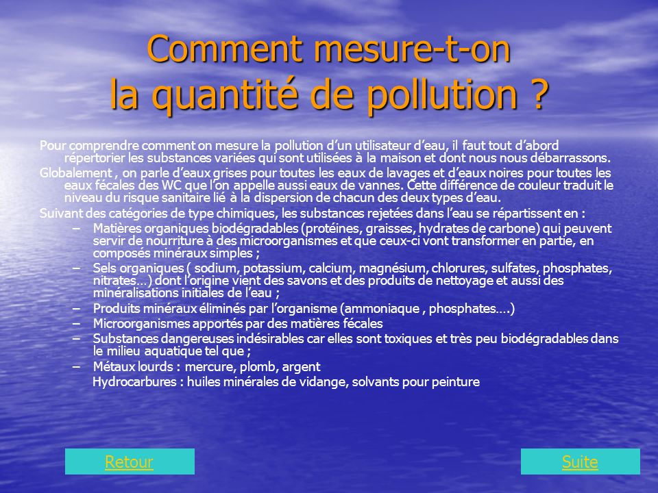 Comment mesure-t-on la quantité de pollution