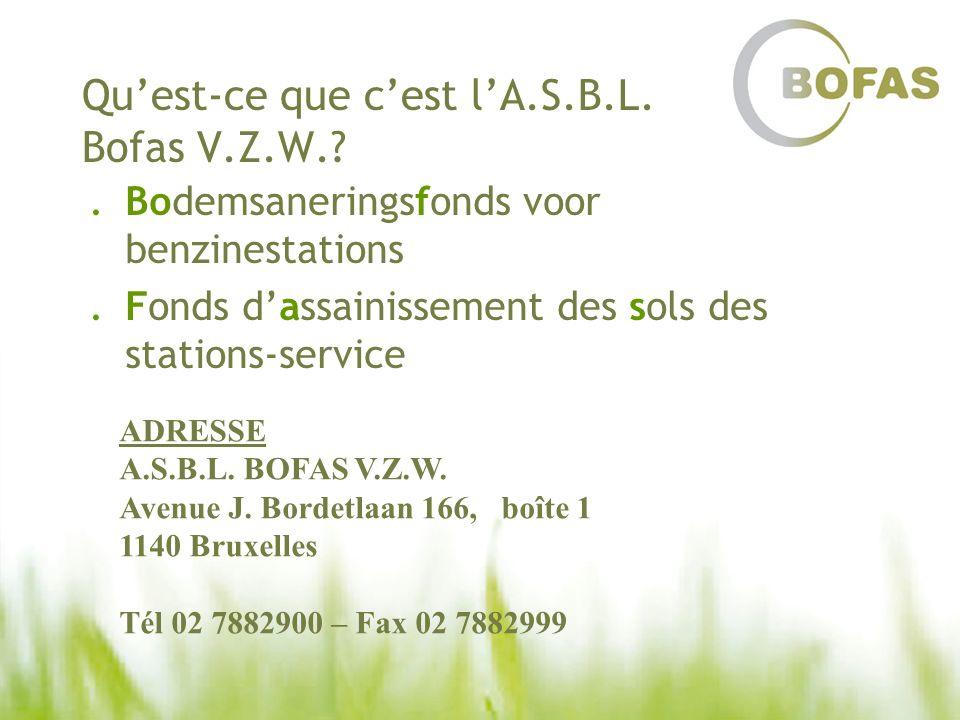 Qu'est-ce que c'est l'A.S.B.L. Bofas V.Z.W.