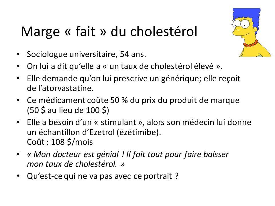 Marge « fait » du cholestérol