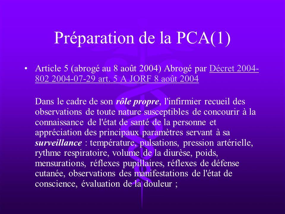 Préparation de la PCA(1)