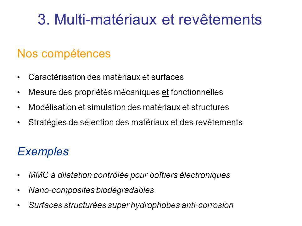 3. Multi-matériaux et revêtements