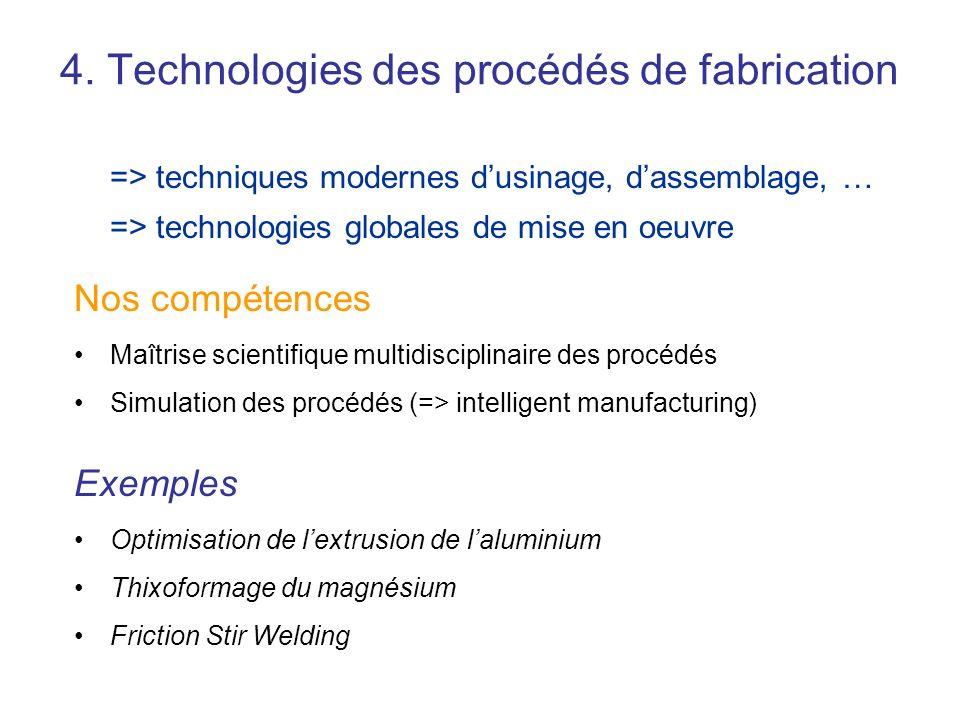 4. Technologies des procédés de fabrication