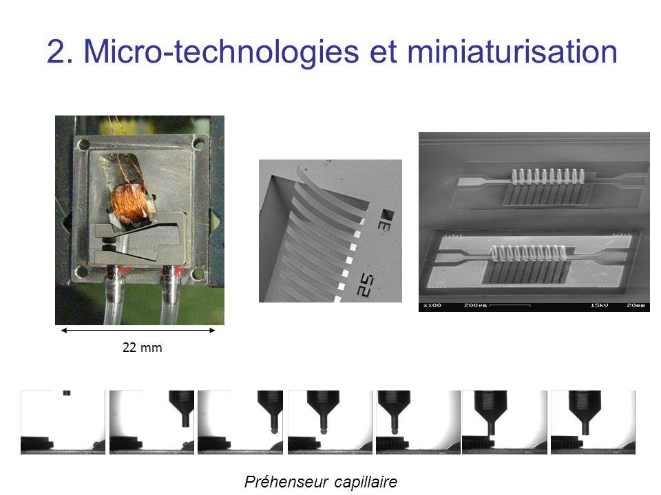 2. Micro-technologies et miniaturisation