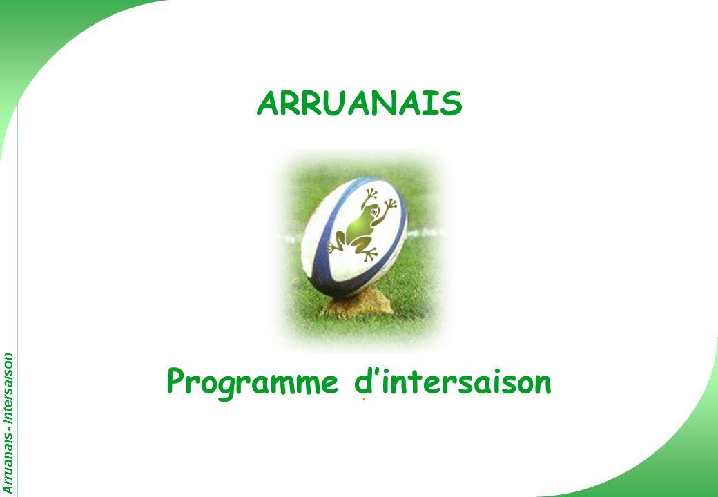 ARRUANAIS Programme d'intersaison