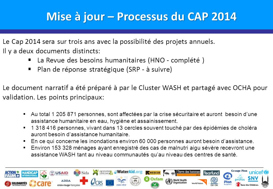 Mise à jour – Processus du CAP 2014