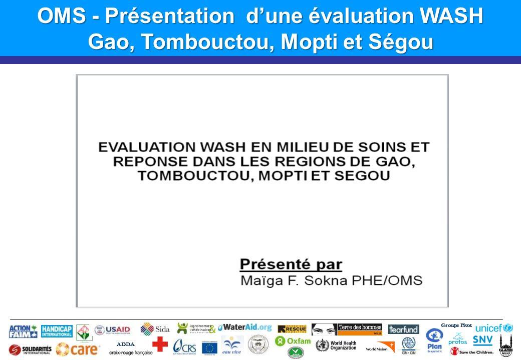 OMS - Présentation d'une évaluation WASH