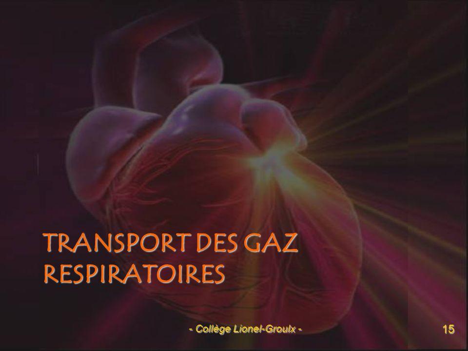 Transport des gaz respiratoires