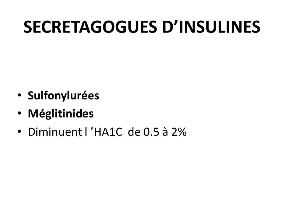 SECRETAGOGUES D'INSULINES