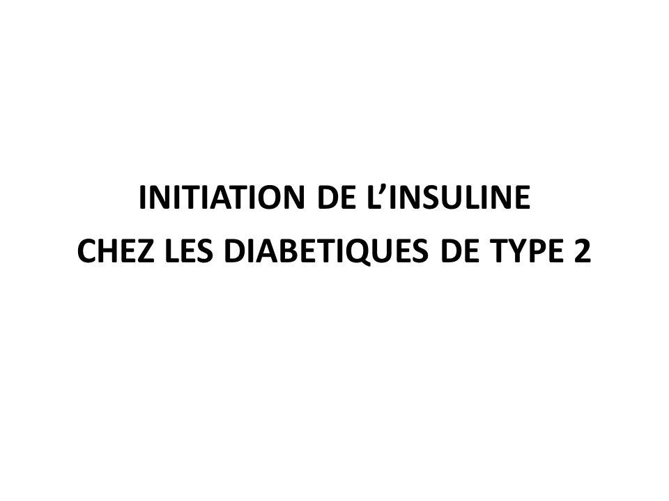 INITIATION DE L'INSULINE CHEZ LES DIABETIQUES DE TYPE 2