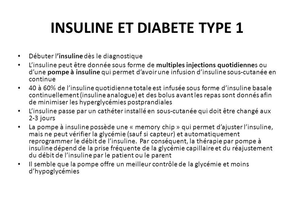 INSULINE ET DIABETE TYPE 1