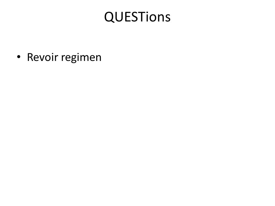 QUESTions Revoir regimen