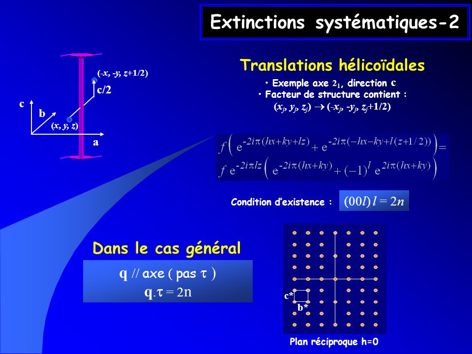 Extinctions systématiques-2