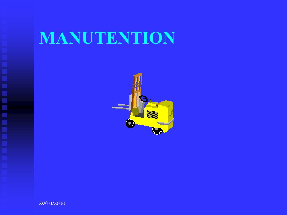 MANUTENTION 29/10/2000