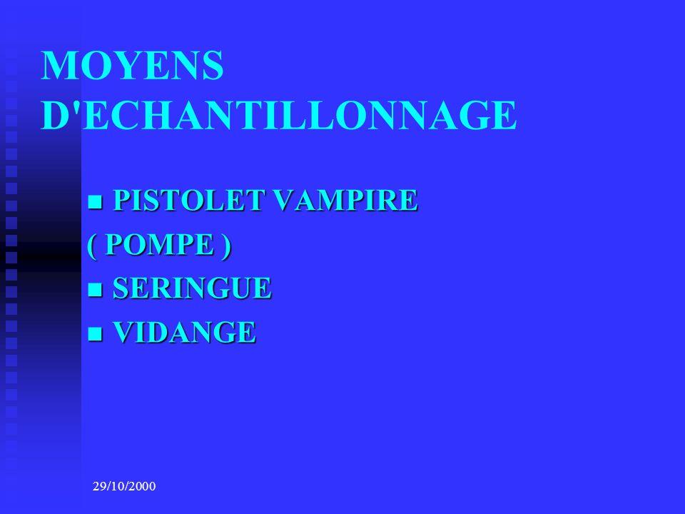 MOYENS D ECHANTILLONNAGE