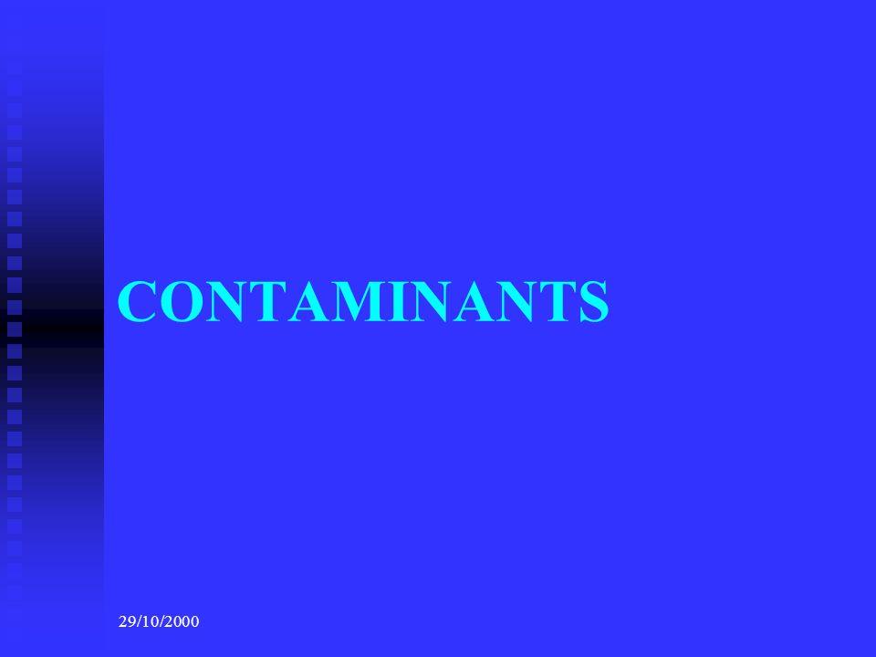 CONTAMINANTS 29/10/2000