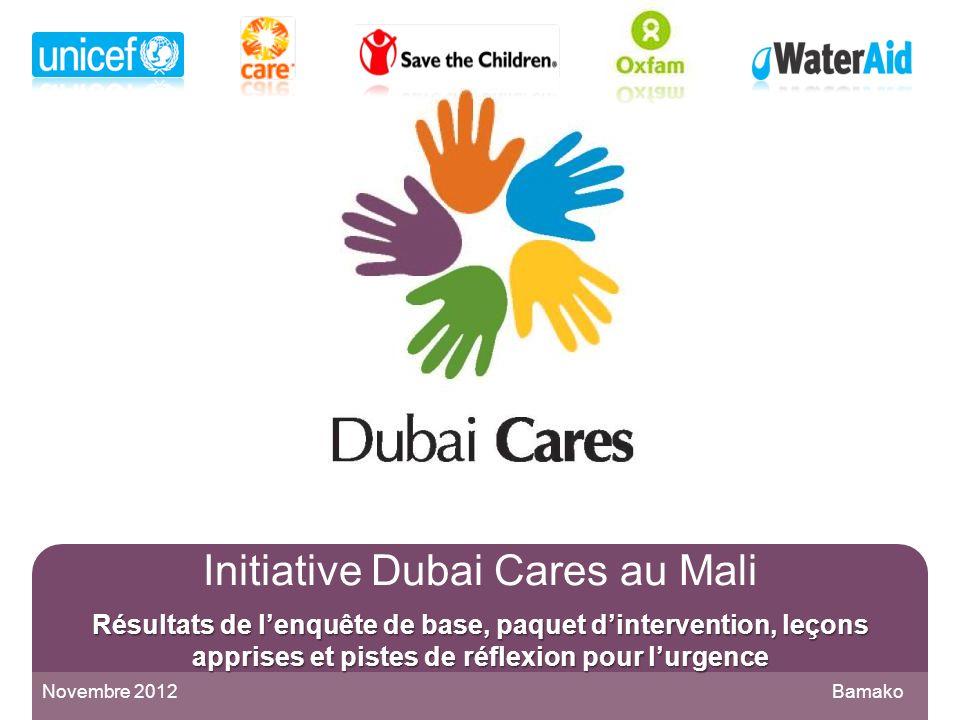 Initiative Dubai Cares au Mali Résultats de l'enquête de base, paquet d'intervention, leçons apprises et pistes de réflexion pour l'urgence