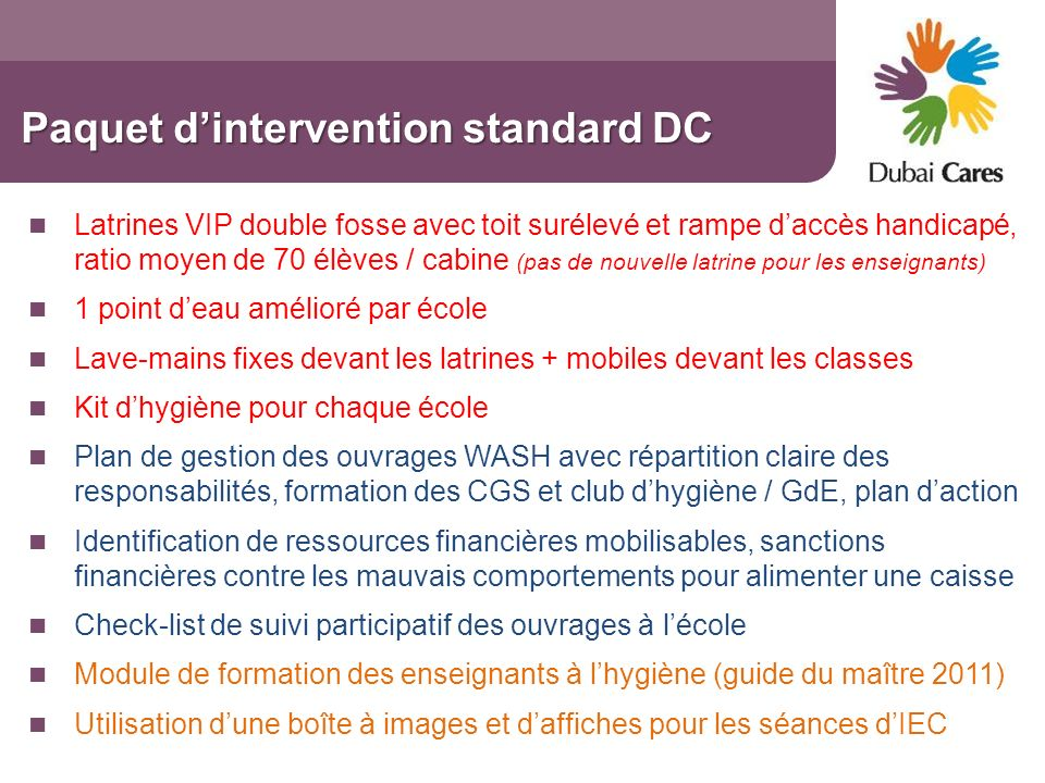 Paquet d'intervention standard DC