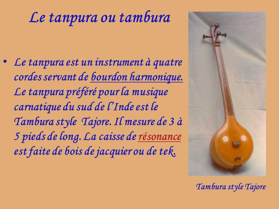Le tanpura ou tambura