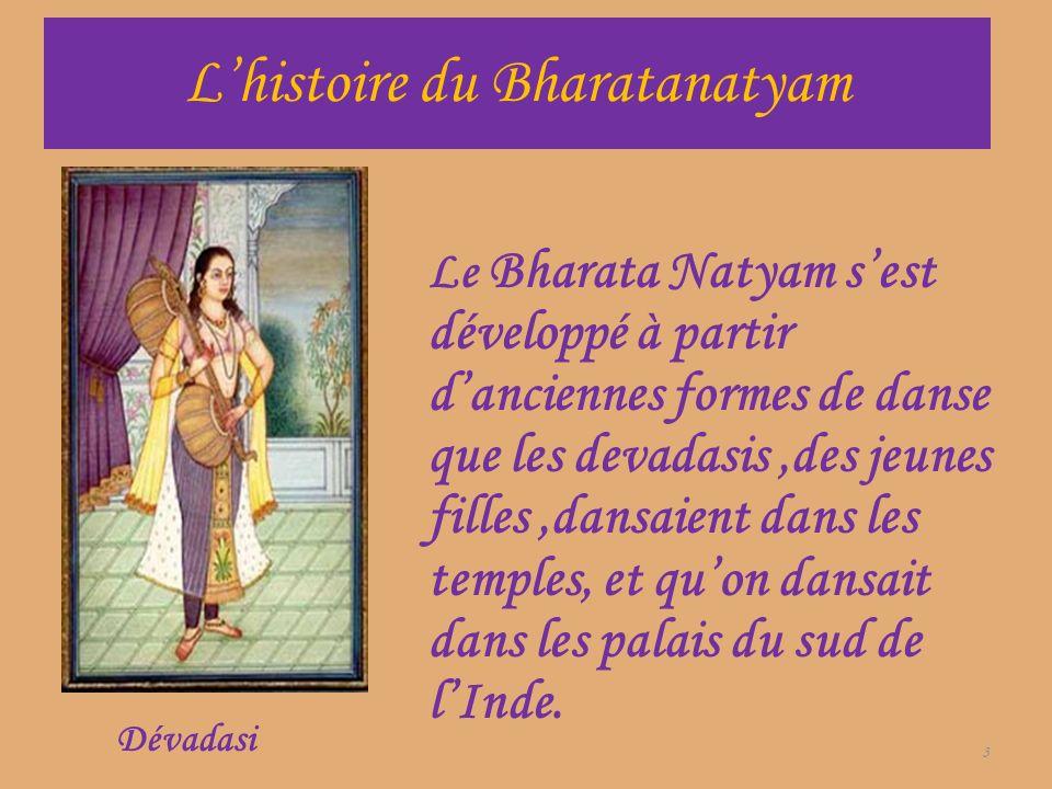 L'histoire du Bharatanatyam