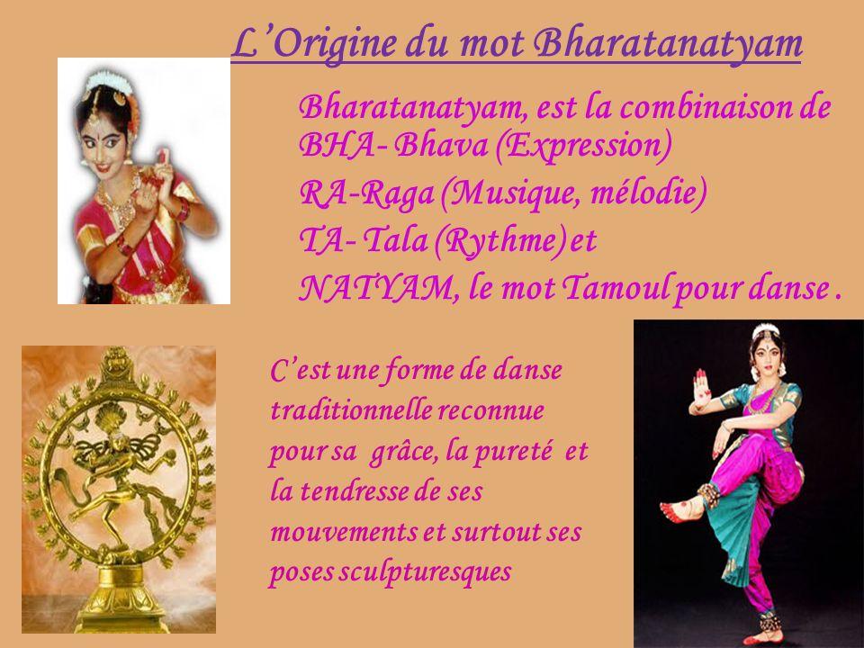 L'Origine du mot Bharatanatyam