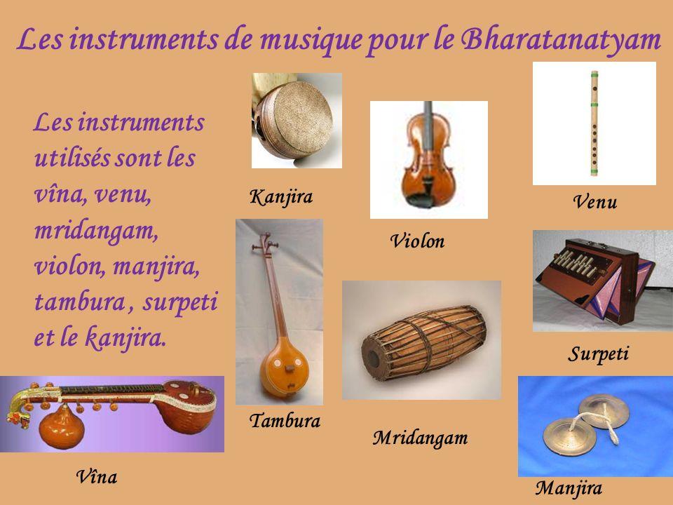 Les instruments de musique pour le Bharatanatyam