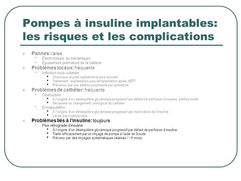 Pompes à insuline implantables: les risques et les complications