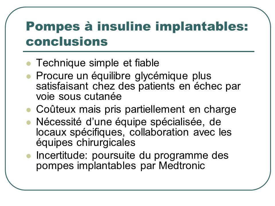 Pompes à insuline implantables: conclusions