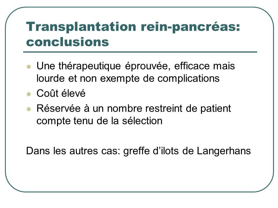 Transplantation rein-pancréas: conclusions