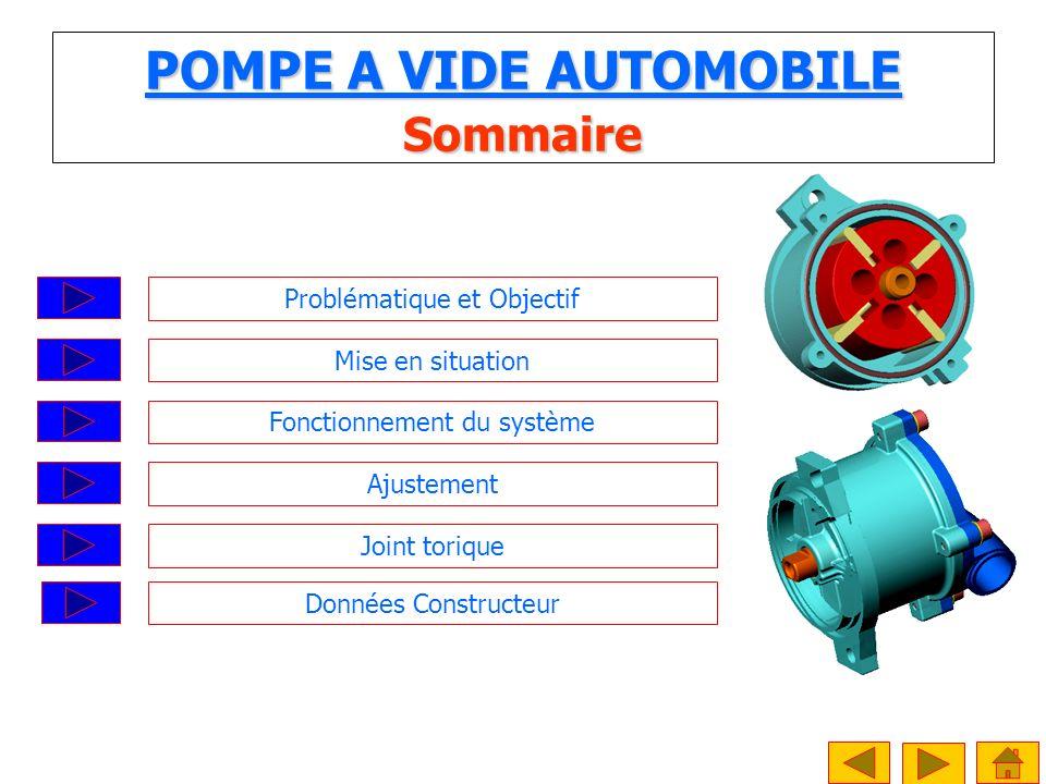 POMPE A VIDE AUTOMOBILE Sommaire