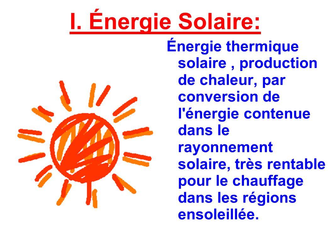 I. Énergie Solaire: