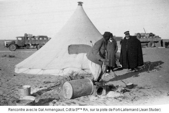 Rencontre avec le Gal Armengaud, Cdt la 5ème RA, sur la piste de Fort-Lallemand (Jean Studer)