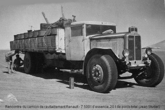 Rencontre du camion de ravitaillement Renault - 7 500 l d'essence, 20 t de poids total (Jean Studer)