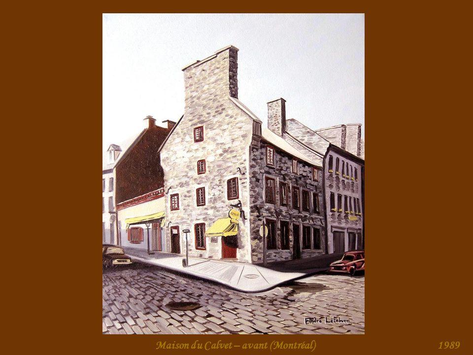Maison du Calvet – avant (Montréal)