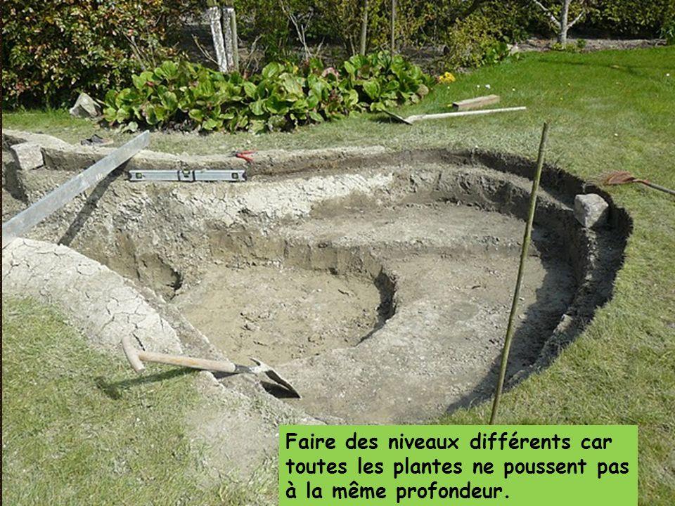Faire des niveaux différents car toutes les plantes ne poussent pas à la même profondeur.