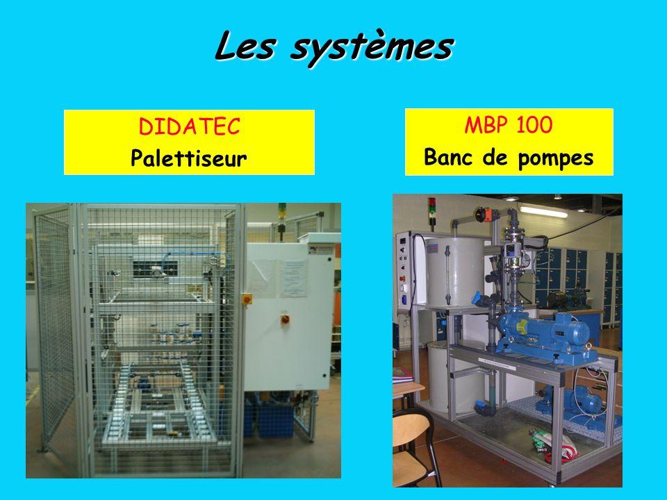 Les systèmes DIDATEC Palettiseur MBP 100 Banc de pompes
