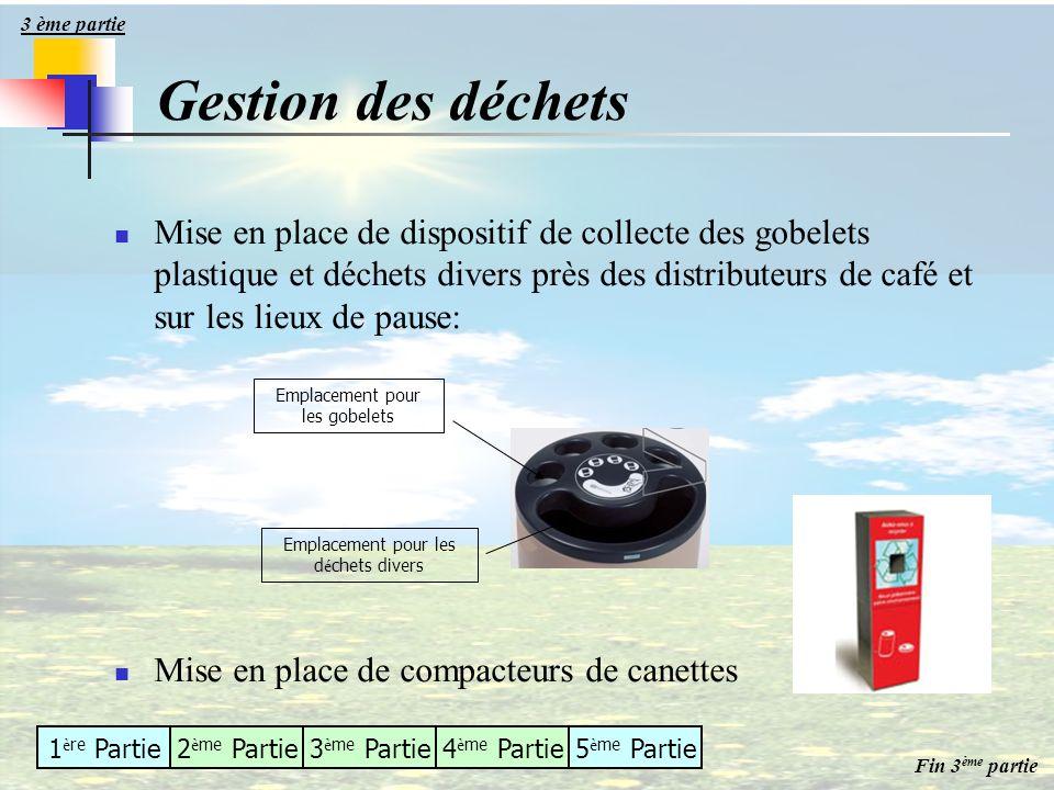 3 ème partie Gestion des déchets.