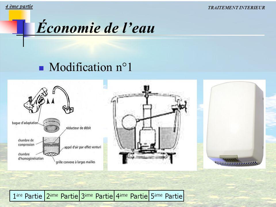 4 ème partie TRAITEMENT INTERIEUR Économie de l'eau Modification n°1