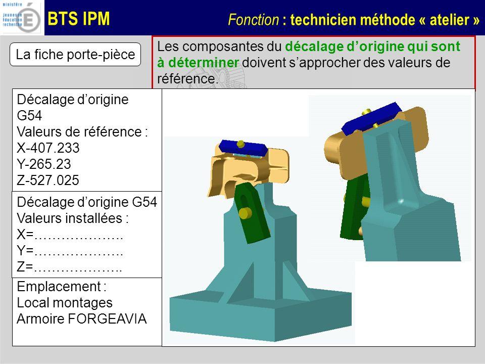 Les composantes du décalage d'origine qui sont à déterminer doivent s'approcher des valeurs de référence.