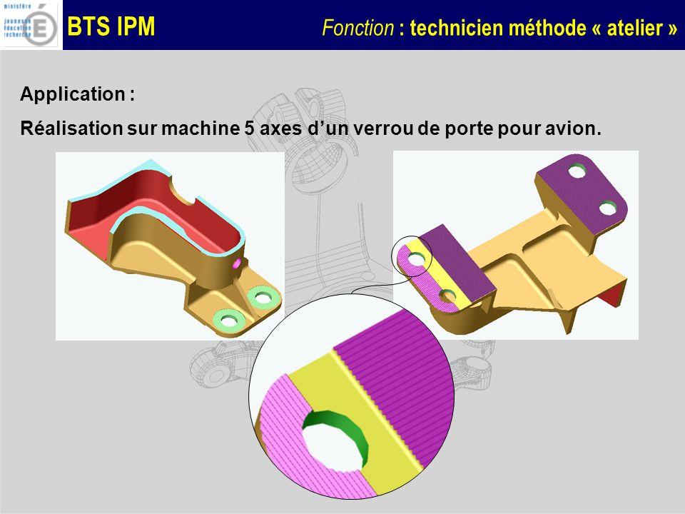 Application : Réalisation sur machine 5 axes d'un verrou de porte pour avion.