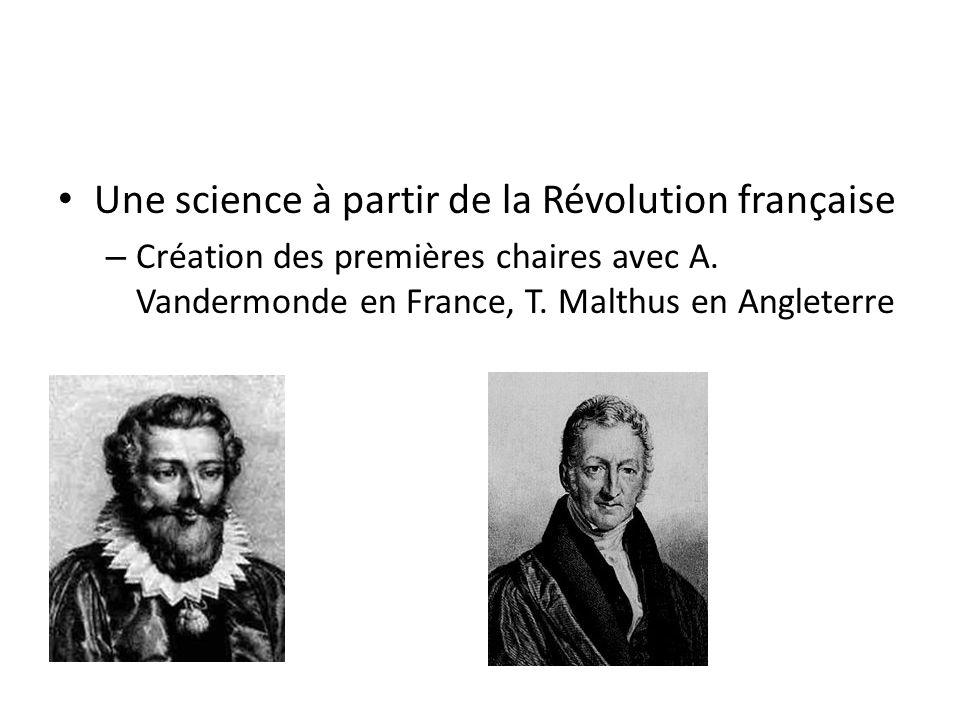 Une science à partir de la Révolution française