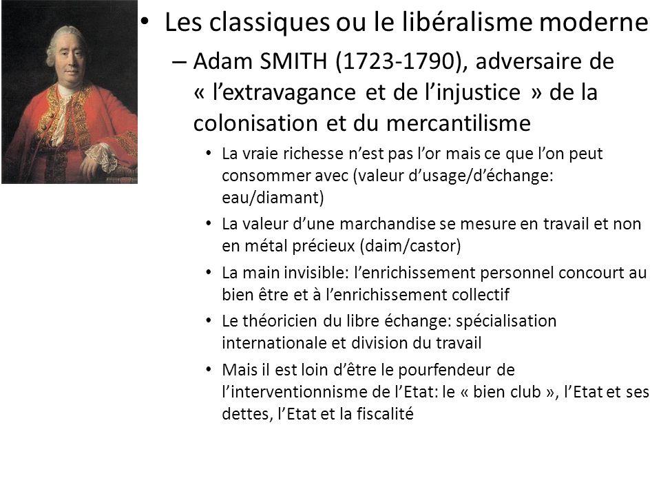 Les classiques ou le libéralisme moderne