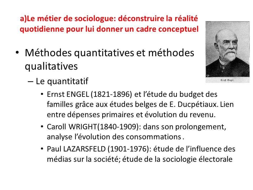 Méthodes quantitatives et méthodes qualitatives