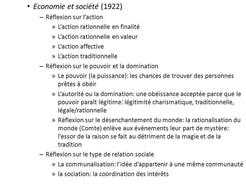 Economie et société (1922) Réflexion sur l'action