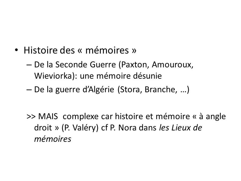 Histoire des « mémoires »